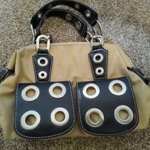 GIANNI BINI Canvas & Leather Handbag Purse NEW
